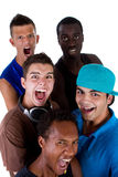 Young fresh group of hip teenagers. Stock Photography