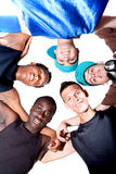 Young fresh group of hip teenagers. Royalty Free Stock Image