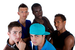 Young fresh group of hip teenagers. Royalty Free Stock Photography