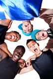 Young Fresh Group Of Hip Teenagers. Stock Photos
