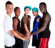 Young Fresh Group Of Hip Teenagers. Royalty Free Stock Photo