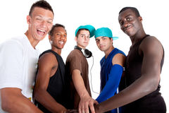 Young Fresh Group Of Hip Teenagers. Royalty Free Stock Photos