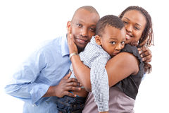 Young fresh and happy family Royalty Free Stock Image
