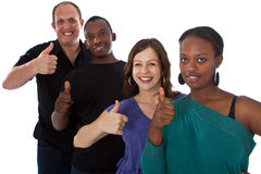 Young fresh multiracial group Royalty Free Stock Photography