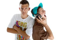 Young fresh teenage djs Stock Image
