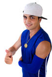 Young Fresh Teenager With Thumbs Up Stock Image