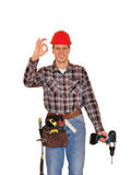 Young friendly construction worker Royalty Free Stock Photo