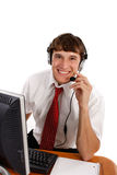 Young Friendly Male Technical Support Person Royalty Free Stock Image
