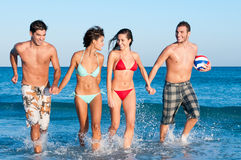 Young friends enjoy the summer Stock Photography