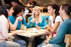 Young Friends In Cafe Royalty Free Stock Photography