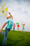 Young friends jumping Royalty Free Stock Photos