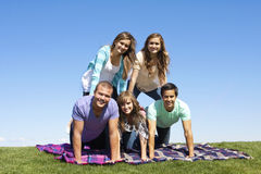 Young Friends Playing Outdoors royalty free stock images