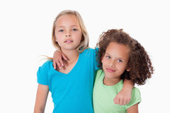 Young friends posing Royalty Free Stock Image