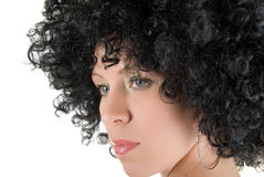 Young frizzy woman Stock Image