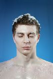 Young frozen man Royalty Free Stock Photos