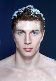 Young frozen man Royalty Free Stock Image