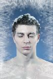 Young frozen man Stock Images