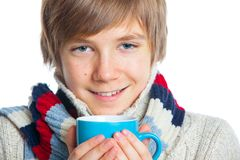 Young frozen teenager in winter style Royalty Free Stock Image