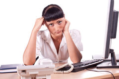 Young frustrated business woman Royalty Free Stock Image