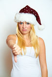 Young frustrated christmas woman Royalty Free Stock Image