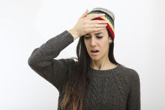 Young frustrated hipster girl Stock Images