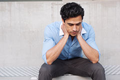 Young frustrated latino businessman Royalty Free Stock Photo
