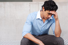 Young frustrated latino businessman Royalty Free Stock Images