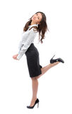 Young full body business woman Stock Photo