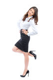 Young full body business woman smiling Stock Photos