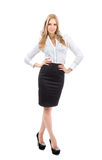 Young full body business woman smiling Royalty Free Stock Photos