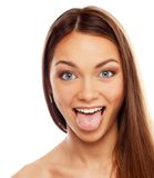 Young funny brunette girl Royalty Free Stock Images