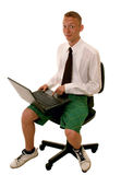 Young funny businessman Stock Images