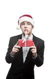 Young funny christmas business man Royalty Free Stock Images