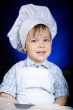 Young funny cook with kitchenware. Photo of young funny cook with kitchenware Royalty Free Stock Photo