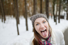Young funny woman being silly Stock Photos
