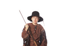 Young fur trapper from early American history Royalty Free Stock Image