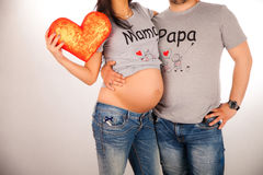 Young future parents; Royalty Free Stock Photography