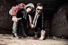 Young gangs Royalty Free Stock Image