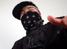 Young gangster rapper royalty free stock photos