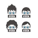 Young geek cartoon Royalty Free Stock Image