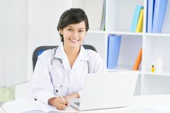Young general practitioner stock image