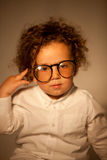 Young genius wearing glasses Stock Photo