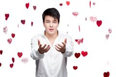 Young gentle brunette man Stock Image