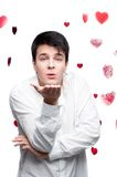 Young gentle brunette man Stock Photography