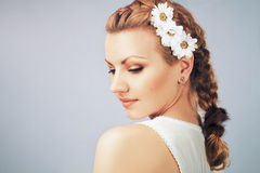 Young gentle woman royalty free stock photos