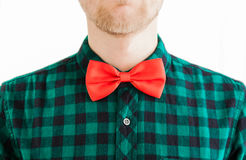 Young gentleman and his red bowtie Stock Photos