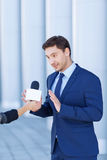 Young gentleman is not willing to speak Royalty Free Stock Photo