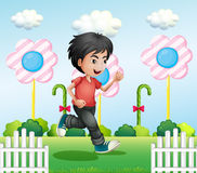 A young gentleman running. Illustration of a young gentleman running Stock Photos