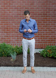 Young Gentleman With A Smartphone Royalty Free Stock Photography