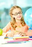 Young geographer Royalty Free Stock Photos